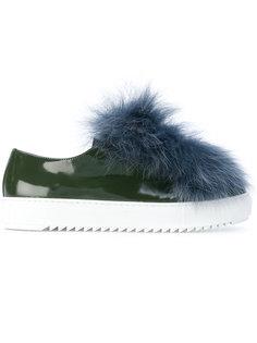 декорированные кроссовки с лисьим мехом Mr & Mrs Italy