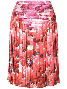 плиссированная юбка с цветочным принтом Marco De Vincenzo