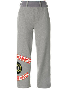укороченные спортивные брюки с нашивками Mr & Mrs Italy