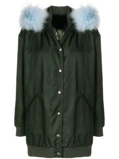 пальто с капюшоном и съемным мехом Mr & Mrs Italy