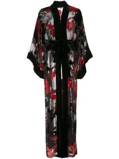 халат с цветочным принтом  Natori