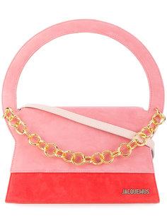 сумка-тоут с золотистой цепочкой Jacquemus