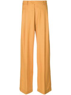 широкие плиссированные брюки  Eckhaus Latta