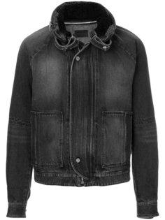 куртка с меховым воротником Saint Laurent