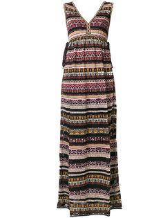 платье в полоску с V-образным вырезом M Missoni