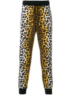 спортивные брюки с леопардовым принтом Love Moschino