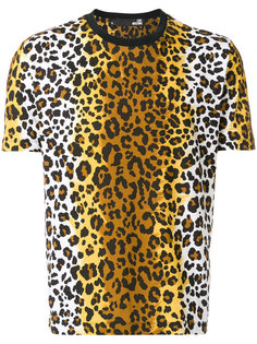 футболка с леопардовым принтом Love Moschino