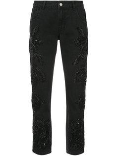 джинсы с вышивкой из пайеток Amen Amen.