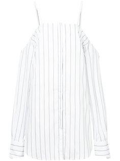 платье в полоску с открытыми плечами  Strateas Carlucci