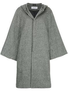 пальто с капюшоном в ломаную клетку En Route