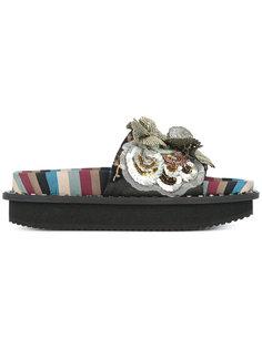 декорированные сандалии с цветами Antonio Marras