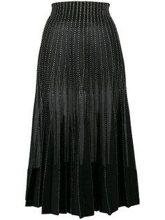юбка-макси с металлическими нитями Alexander McQueen