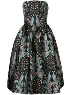 платье с открытыми плечами и цветочным принтом  Ingie Paris