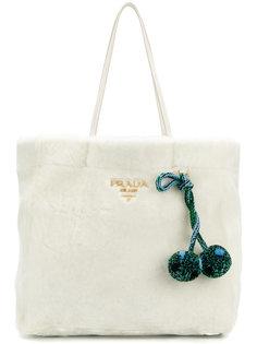 сумка-шоппер из овчины Prada