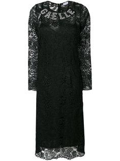 платье с логотипом и длинными рукавами  Gaelle Bonheur