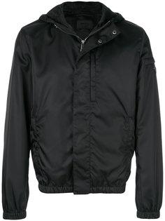 куртка с капюшоном gabardine  Prada