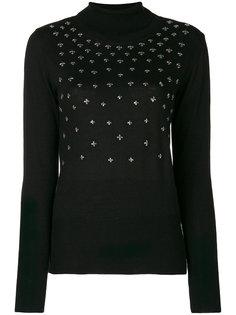 свитер-водолазка с заклепками  Gaelle Bonheur