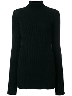 свитер-водолазка в рубчик  Balmain