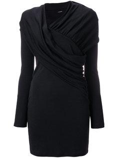 присборенное платье  Balmain