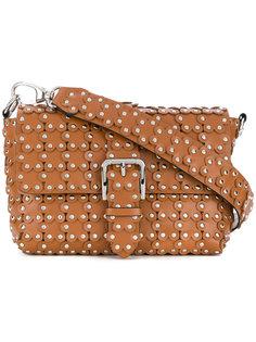 сумка на плечо с цветочными заклепками Red Valentino