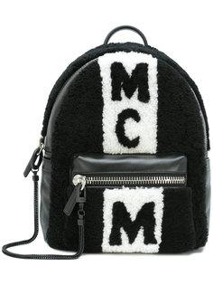 рюкзак с панелями из овчины MCM