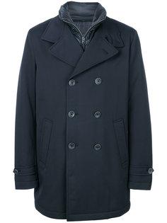 двубортное укороченное пальто  Herno