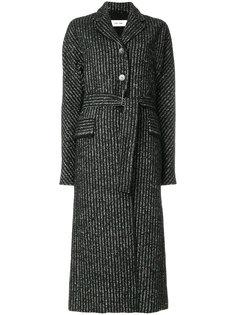 пальто в полоску на пуговицах  Damir Doma