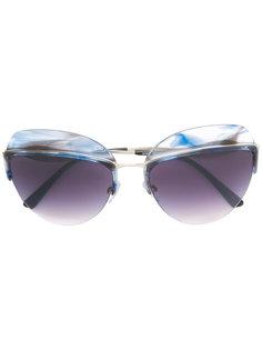 солнцезащитные очки в овальной оправе Giorgio Armani