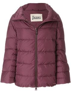 куртка-пуховик с широким воротником Herno