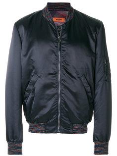 куртка-бомбер  с разноцветной окантовкой Missoni