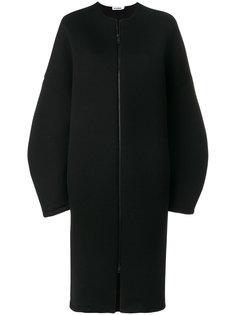 свободное пальто с заниженной линией плеч  Jil Sander