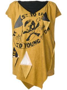 свободная асимметричная футболка  Vivienne Westwood Anglomania