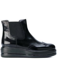 ботинки по щиколотку на танкетке Hogan