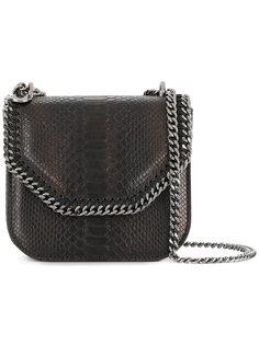 сумка с эффектом крокодиловой кожи Falabella Box Stella McCartney
