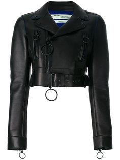 укороченная байкерская куртка Off-White