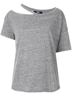 футболка с разрезанной горловиной Paige