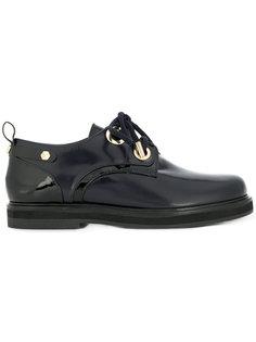 туфли на шнуровке с контрастной панелью Twin-Set