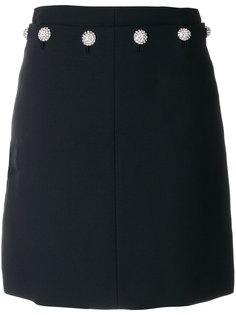юбка с декоративными пуговицами на поясе Tory Burch