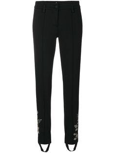 спортивные брюки со штрипками и вышивкой Cambio