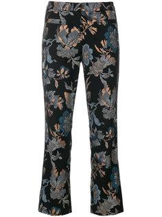 укороченные брюки с цветочной вышивкой с пайетками Cambio