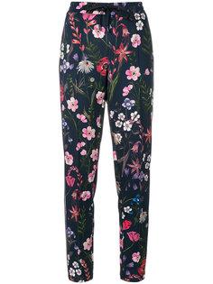 брюки с полосками и цветочным принтом Cambio