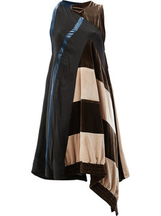 платье асимметричного кроя с двойным узором Koche