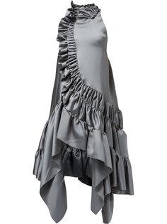 платье асимметричного кроя с оборками Koche