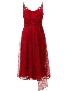 шифоновое платье с вышивкой Nº21