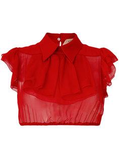 прозрачная рубашка с вышивкой Nº21