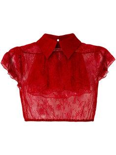 укороченная прозрачная рубашка Nº21