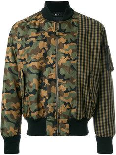 куртка-бомбер с камуляжным принтом  Nº21