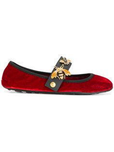 бархатные балетки Car Shoe