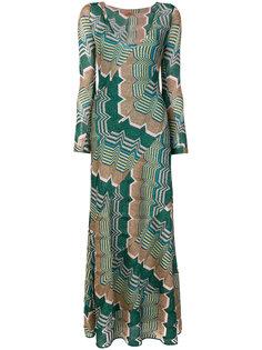 длинное платье с блестящим принтом Missoni