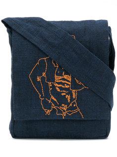 сумка на плечо с декоративной строчкой Bernhard Willhelm